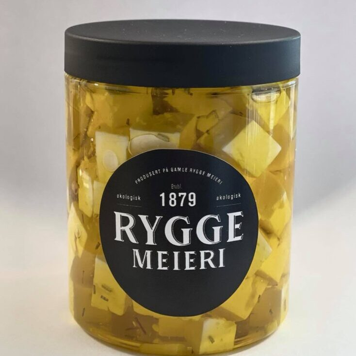 Salatost i terninger fra Rygge Meieri